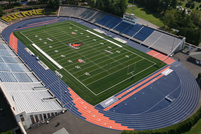 Football Stadium Field & Running Track