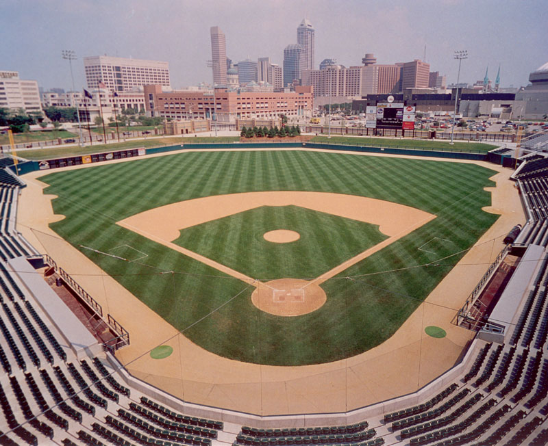 Natural Grass Baseball Field